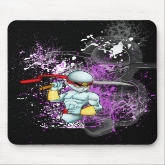 White Ninja Guy Mousepad