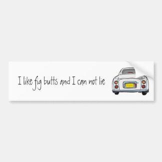 White Nissan Figaro Bumper Sticker