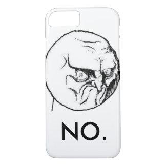 "White ""NO."" meme Funny iPhone 8/7 Case"