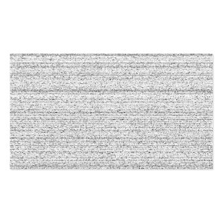 White Noise. Black and White Snowy Grain. Double-Sided Standard Business Cards (Pack Of 100)