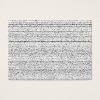 White Noise. Black and White Snowy Grain. Business Card