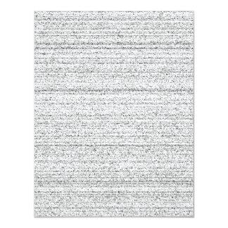 White Noise. Black and White Snowy Grain. 4.25x5.5 Paper Invitation Card
