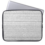 White Noise. Black and White Snowy Grain. Laptop Computer Sleeves