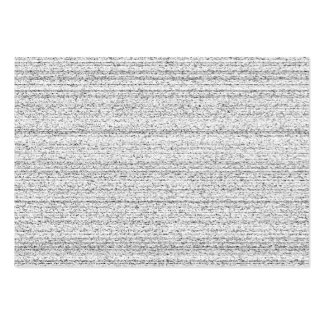 White Noise. Black and White Snowy Grain. Large Business Card