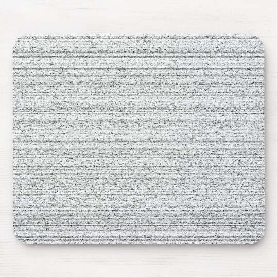 White Noise. Black and White Snowy Grain. Mouse Pad