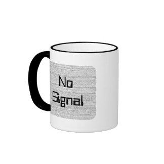 White Noise. Black and White Snowy Grain. Ringer Mug