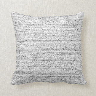 White Noise. Black and White Snowy Grain. Throw Pillow