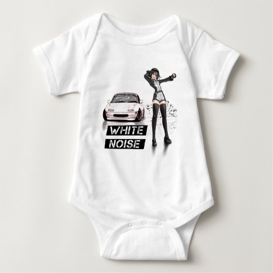 White Noise MX5 Miata Baby Bodysuit