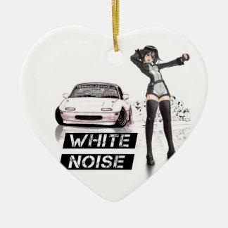White Noise MX5 Miata Ceramic Ornament
