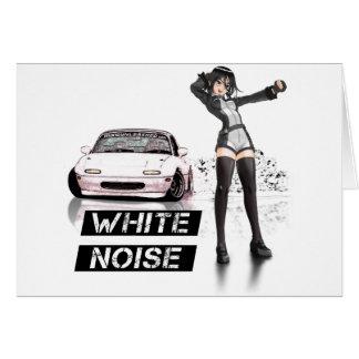 White Noise MX5 Miata Greeting Card
