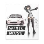 White Noise MX5 Miata Memo Note Pad