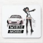 White Noise MX5 Miata Mouse Pad