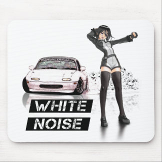 White Noise MX5 Miata Moustpad Mouse Pads
