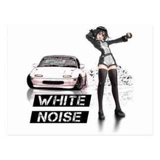 White Noise MX5 Miata Postcard