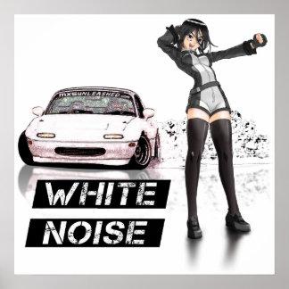 White Noise MX5 Miata Poster