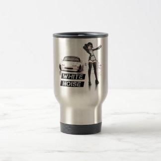 White Noise MX5 Miata Travel Mug