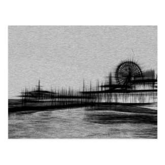 White Noise Santa Monica Pier Postcard