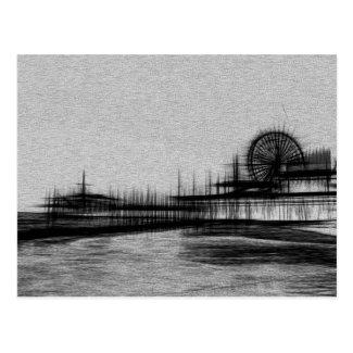 White Noise Santa Monica Pier Postcard