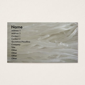 White Noodles Business Card