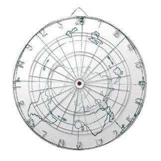 White North Pole AE Map Dartboard