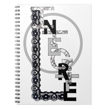 """Beach Themed White notebook with spiral """"Integrity """""""