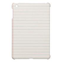 White Notepad iPad Cases iPad Mini Case