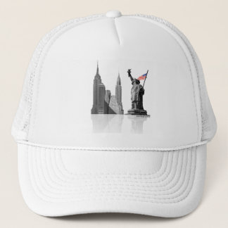 White NY Trucker Hat