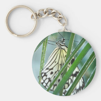 White Nymph Butterfly Keychain
