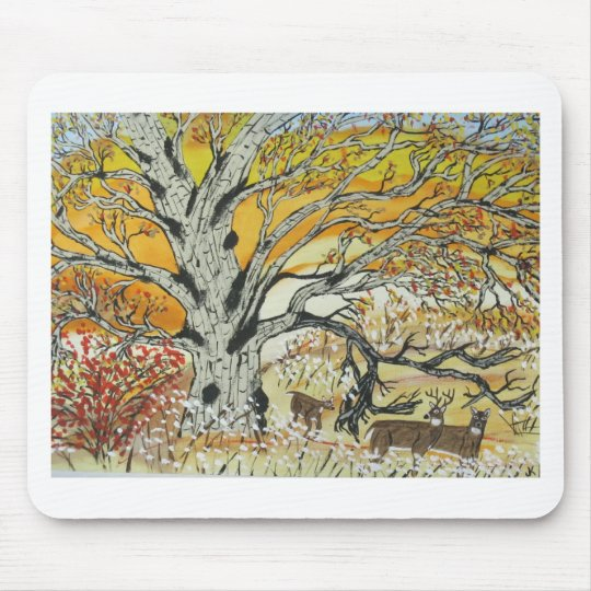 White Oak and Whitetails Mouse Pad