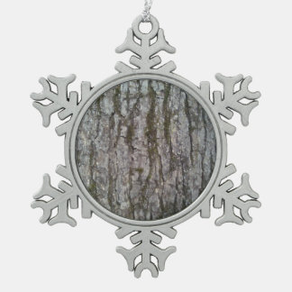 White Oak Snowflake Pewter Christmas Ornament