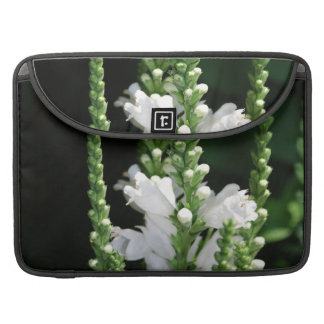 White Obedient Plant Flowers MacBook Pro Sleeve