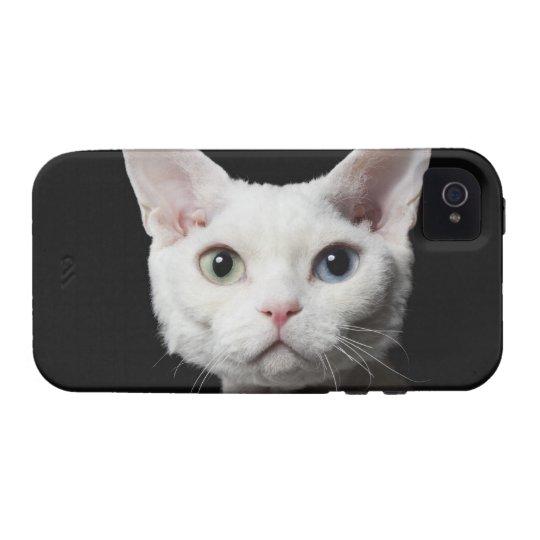 White odd-eyed cat iPhone 4/4S case