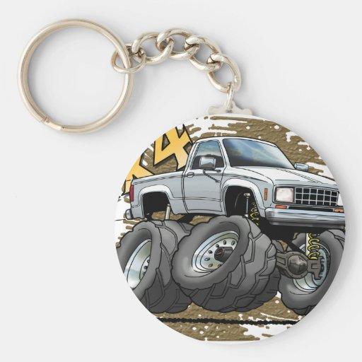 White Old Ranger Key Chains