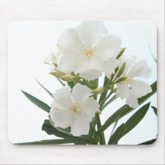 White Oleander Mouse Pad