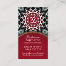 White Om Reiki Yoga New Age Business Cards