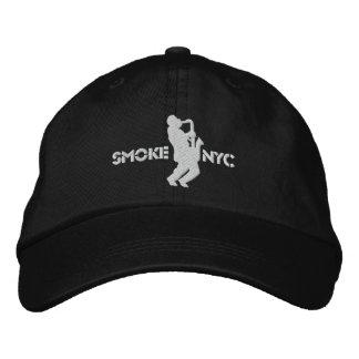 White on Black BB Embroidered Baseball Cap