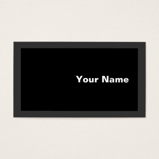 White on Black Business Card