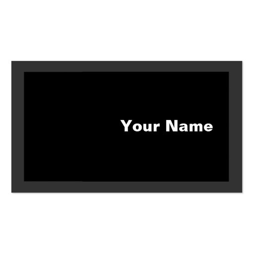White on Black Business Card Template
