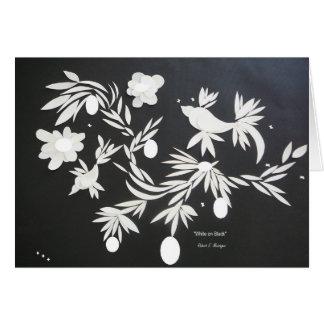 """""""White On Black"""" Card"""
