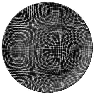 White on Black Curved Space Plate