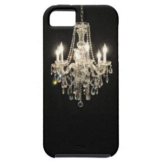 White on Black Dazzling  Vintage Chandelier iPhone 5/5S Cases