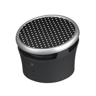 White on Black Dot Design Bluetooth Speaker