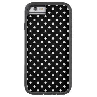 White on Black Dot Design Tough Xtreme iPhone 6 Case