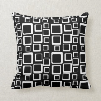 White on Black Feeling Sixties Pillow