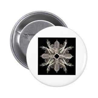 White on Black Fractal Art Design Buttons