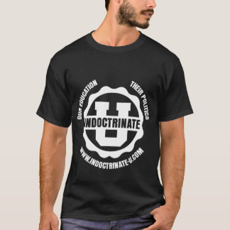 White-on-Black Front & Back Radiation Logo T-Shirt
