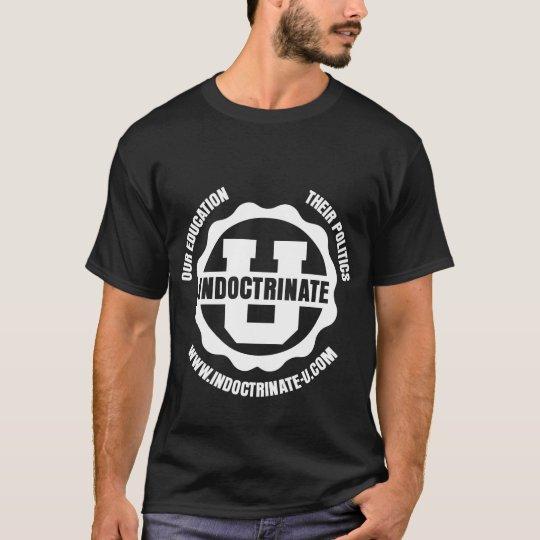White-on-Black Front & Back Radiation Logo T-Shirt