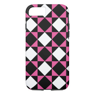 White on Black Kick of Pink iPhone 8/7 Case