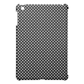 White on Black Polka Dot Pattern iPad Mini Case