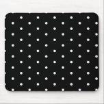 "White on Black Polka Dots Mouse Pad<br><div class=""desc"">Super cute and girly polka dots.</div>"